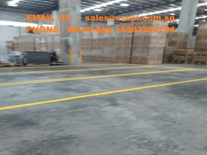 Warehouse floor painting