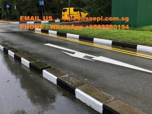 road divider marking Singapore